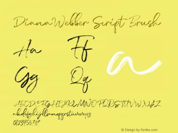 DianaWebberScript-Brush Version 1.000图片样张