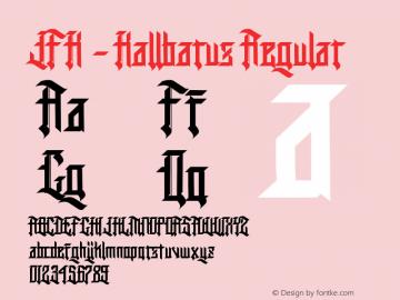 JFK - Kallbarus Version 0.00;January 11, 2018;FontCreator 11.0.0.2408 32-bit图片样张