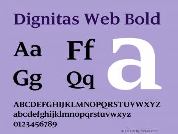 Dignitas Web Bold Version 1.1 2003图片样张