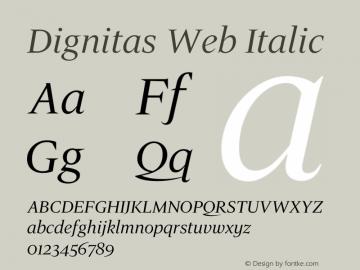 Dignitas Web Italic Version 1.1 2005图片样张