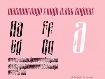 masquerouge rough italic Version 1.00 March 30, 2017, initial release图片样张