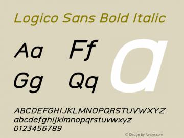 Logico Sans Bold Italic Version图片样张