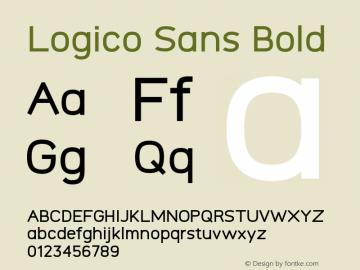 Logico Sans Bold Version图片样张