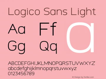 Logico Sans Light Version图片样张