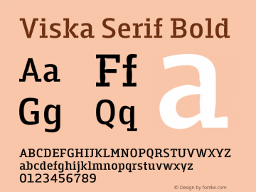 Viska Serif Bold Version 1.001;PS 001.001;hotconv 1.0.70;makeotf.lib2.5.58329图片样张