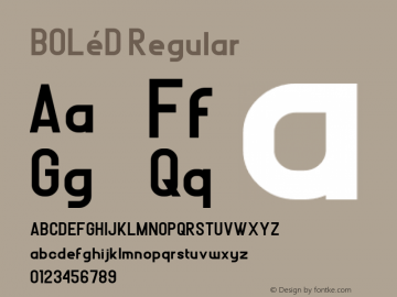 BOLéD Version 1.00;November 7, 2018;FontCreator 11.5.0.2421 32-bit图片样张
