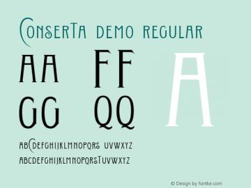 Conserta DEMO Regular Version 1.000图片样张