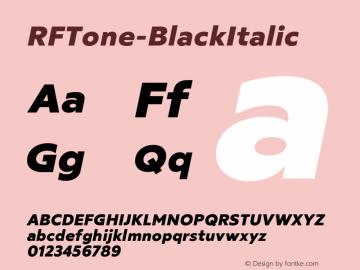 ☞RF Tone Black Italic Version 1.000;com.myfonts.easy.russian-fonts.rf-tone.black-italic.wfkit2.version.5cgn图片样张