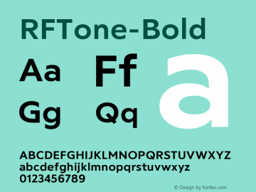 ☞RF Tone Bold Version 1.000;com.myfonts.easy.russian-fonts.rf-tone.bold.wfkit2.version.5cgc图片样张