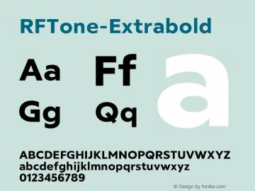 ☞RFTone-Extrabold Version 1.000;com.myfonts.easy.russian-fonts.rf-tone.extrabold.wfkit2.version.5cgi图片样张