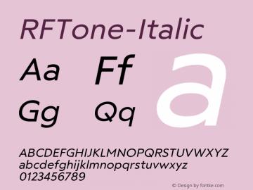 ☞RF Tone Italic Version 1.000;com.myfonts.easy.russian-fonts.rf-tone.italic.wfkit2.version.5cgt图片样张