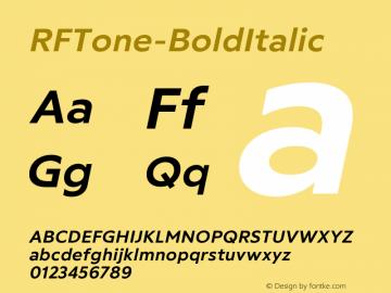 ☞RF Tone Bold Italic Version 1.000;com.myfonts.easy.russian-fonts.rf-tone.bold-italic.wfkit2.version.5cgB图片样张