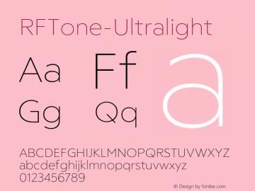☞RFTone-Ultralight Version 1.000;com.myfonts.easy.russian-fonts.rf-tone.ultralight.wfkit2.version.5cg8图片样张