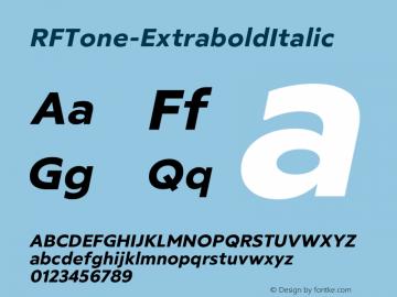 ☞RF Tone Extrabold Italic Version 1.000;com.myfonts.easy.russian-fonts.rf-tone.extrabold-italic.wfkit2.version.5cgj图片样张