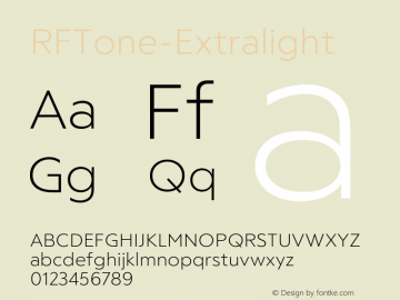 ☞RFTone-Extralight Version 1.000;com.myfonts.easy.russian-fonts.rf-tone.extralight.wfkit2.version.5cgm图片样张