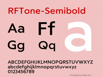 ☞RFTone-Semibold Version 1.000;com.myfonts.easy.russian-fonts.rf-tone.semibold.wfkit2.version.5cgD图片样张