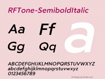 ☞RF Tone Semibold Italic Version 1.000;com.myfonts.easy.russian-fonts.rf-tone.semi-bold-italic.wfkit2.version.5cgy图片样张
