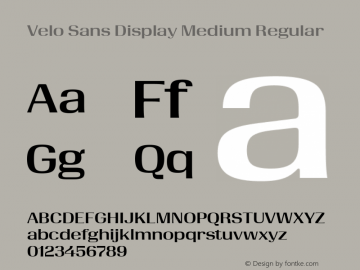 Velo Sans Display Medium Version 1.000;PS 1.0;hotconv 1.0.88;makeotf.lib2.5.647800图片样张