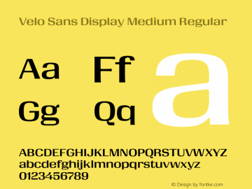 Velo Sans Display Medium Version 1.000;PS 1.0;hotconv 1.0.88;makeotf.lib2.5.647800图片样张