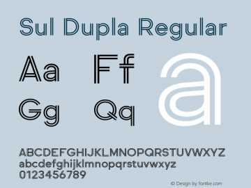 SulDupla Version 1.0图片样张
