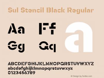 SulStencilBlack Version 1.0图片样张