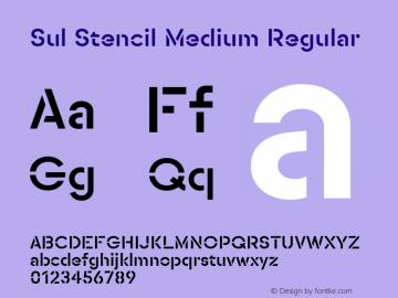 SulStencilMedium Version 1.0图片样张