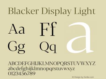 BlackerDisplay-Light Version 1.0 | w-rip DC20180110图片样张