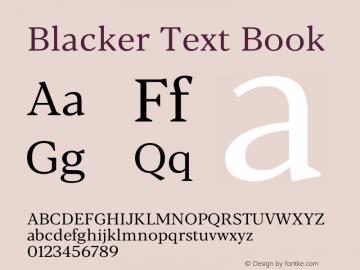BlackerText-Book Version 1.0 | w-rip DC20180110图片样张