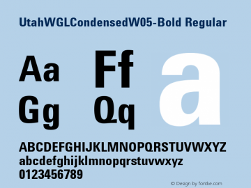Utah WGL Condensed W05 Bold Version 1.30图片样张