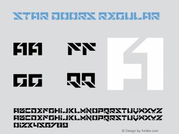 Star Doors Version 1.00;November 7, 2018;FontCreator 11.5.0.2427 64-bit图片样张