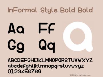 InFormal Style Bold Version 001.000图片样张