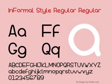 InFormal Style Regular Version 001.000图片样张