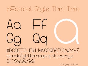 InFormal Style Thin Version 001.000图片样张