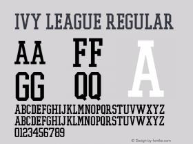 Ivy League Regular Altsys Fontographer 3.5  11/25/92图片样张