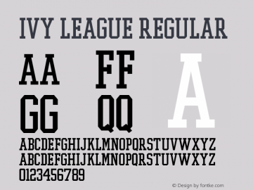 Ivy League Regular Altsys Fontographer 3.5  11/25/92 Font Sample