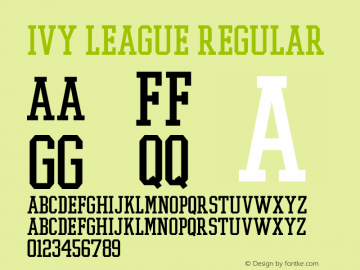 Ivy League Regular 001.000 Font Sample