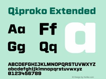Qiproko Extended Version 1.000;PS 001.000;hotconv 1.0.88;makeotf.lib2.5.64775; ttfautohint (v1.4.1) Font Sample