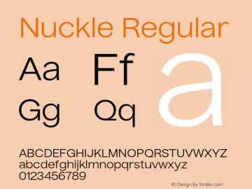 Nuckle Regular Version 1.032;PS 1.32;hotconv 1.0.88;makeotf.lib2.5.647800图片样张