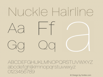 Nuckle Hairline Version 1.032;PS 1.32;hotconv 1.0.88;makeotf.lib2.5.647800图片样张