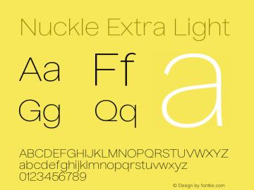Nuckle Extra Light Version 1.032;PS 1.32;hotconv 1.0.88;makeotf.lib2.5.647800图片样张