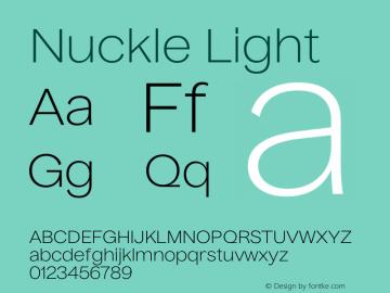 Nuckle Light Version 1.032;PS 1.32;hotconv 1.0.88;makeotf.lib2.5.647800图片样张
