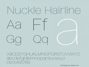Nuckle Hairline Version 1.032;PS 1.32;hotconv 1.0.88;makeotf.lib2.5.647800图片样张