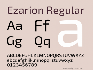 Ezarion Version 1.001;PS 001.001;hotconv 1.0.70;makeotf.lib2.5.58329图片样张