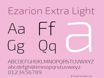 Ezarion Extra Light Version 1.001;PS 001.001;hotconv 1.0.70;makeotf.lib2.5.58329图片样张