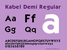 Kabel Demi Regular 001.000 Font Sample