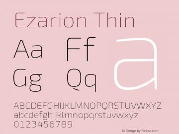 Ezarion Thin Version 1.001;PS 001.001;hotconv 1.0.70;makeotf.lib2.5.58329图片样张