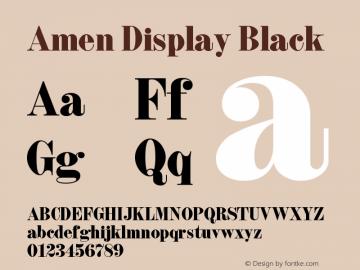 Amen Display Black Version 1.000;PS 001.000;hotconv 1.0.88;makeotf.lib2.5.64775图片样张