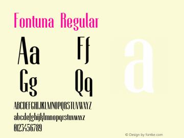 Fontuna Version 1.007;Fontself Maker 3.0.0-3图片样张