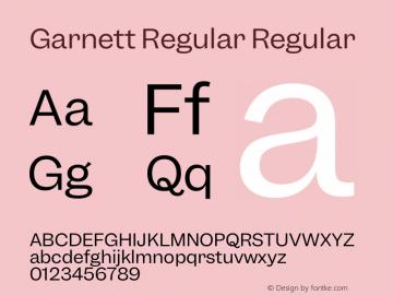 Garnett Regular Regular Version 1.000;PS 1.000;hotconv 16.6.51;makeotf.lib2.5.65220图片样张