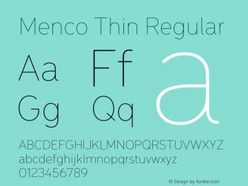 Menco Thin W00 Thin Version 1.00图片样张